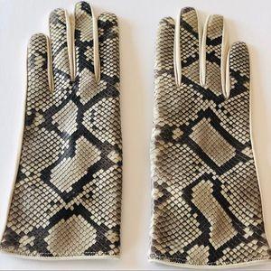 Python Napa Leather Gloves